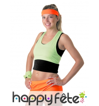 Shorty orange fluo pour femme