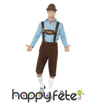 Salopette Oktoberfest marron de Bavarois