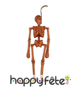 Squelette orange pailleté décoratif