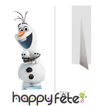 Silhouette Olaf taille réelle, La reine des neiges