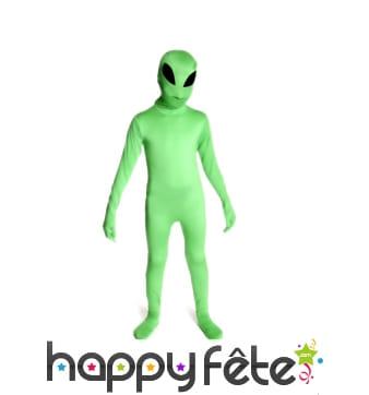 Seconde peau alien phosphorescent pour enfant