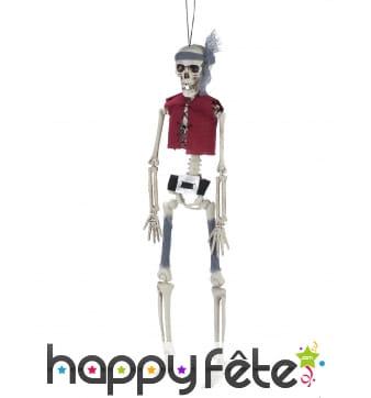 Squelette pirate articulé à suspendre 40cm