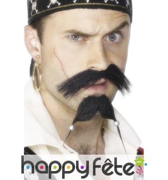 Set pirate barbe moustache
