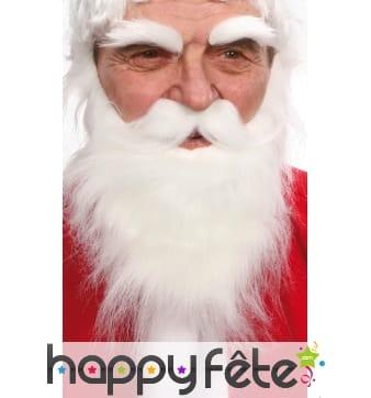 Set papa noel (barbe-moustaches-sourcils)