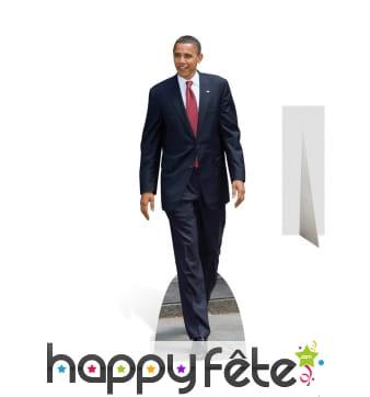 Silhouette président Obama carton taille réelle