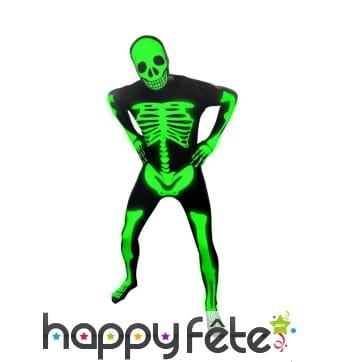 Squelette phosphorescent seconde peau