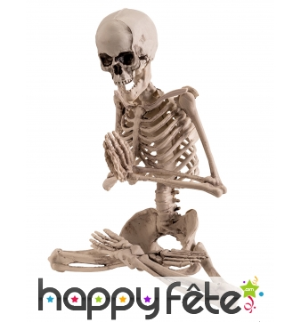 Squelette qui médite de 18cm
