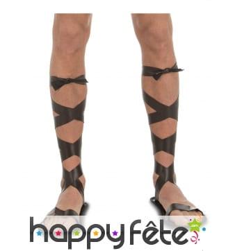 Sandales romaines à lanières pour homme