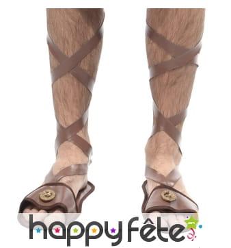 Sandales romaines à lanières