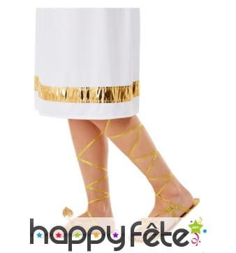 Sandales romaines dorées pour femme