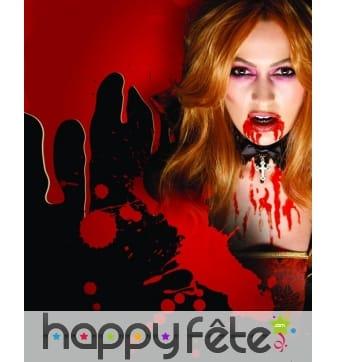 Sang rouge de vampire pour maquillage, 10ml