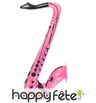 Saxophone rose gonflable