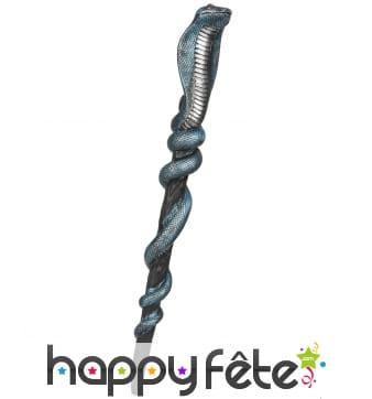 Sceptre serpent enroulé, 64cm