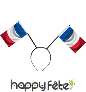 Serre tête avec deux drapeaux français