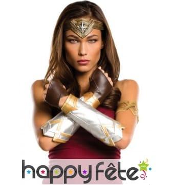 Serre-tête, brassard et gantelets Wonder Woman