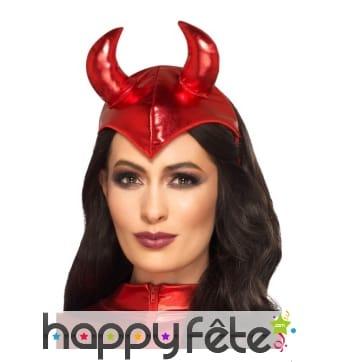 Serre tête cornes de diable rouge sexy