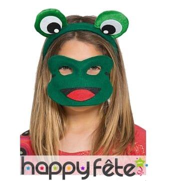 Serre-tête de grenouille verte avec loup