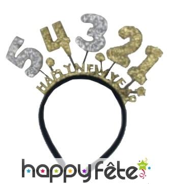 Serre-tête happy new year avec décompte