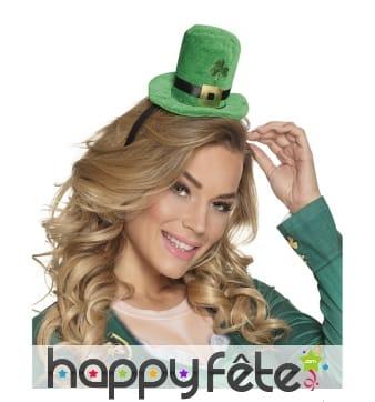 Serre-tête haut de forme Saint Patrick