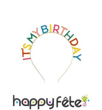 Serre-tête It's my Birthday multicolore