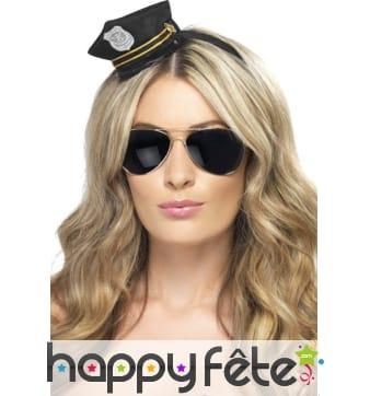 Serre-tete mini casquette de policier