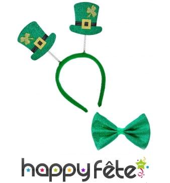 Serre-tête St Patrick avec noeud papillon