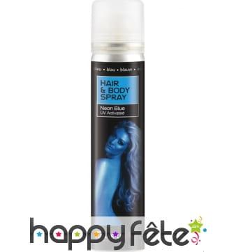 Spray UV corps et cheveux bleu