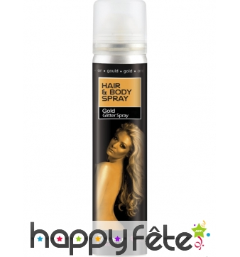 Spray UV corps et cheveux or