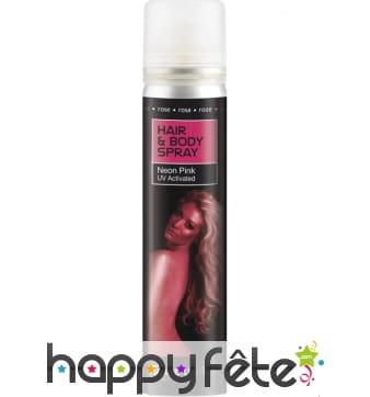 Spray UV corps et cheveux rose