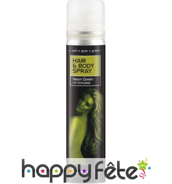 Spray UV corps et cheveux vert