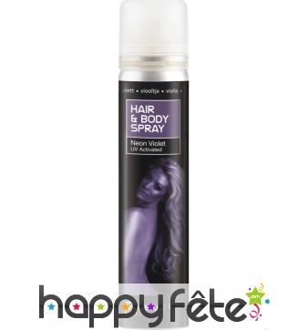 Spray UV corps et cheveux violet