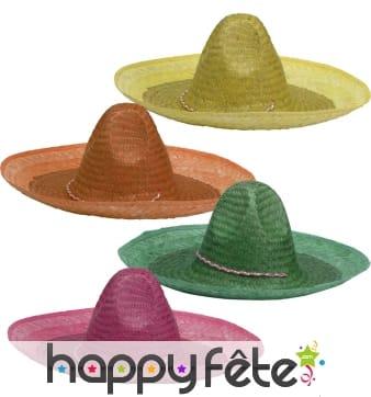 Sombrero uni en paille