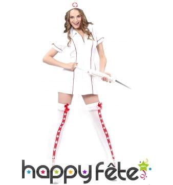 Tenue blanche d'infirmière sexy pour adulte