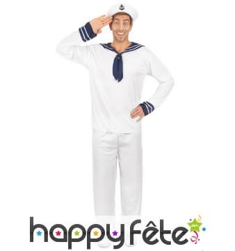 Tenue blanche de marin pour homme