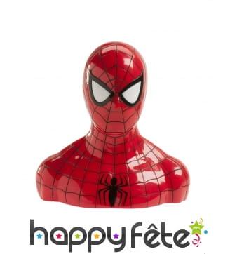 Tirelire buste de Spiderman avec friandises