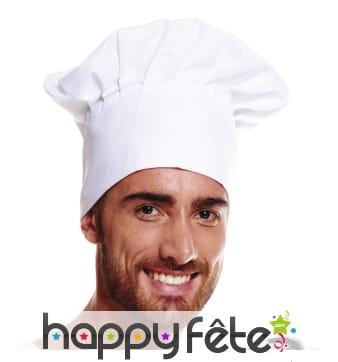 Toque blanche de cuisinier