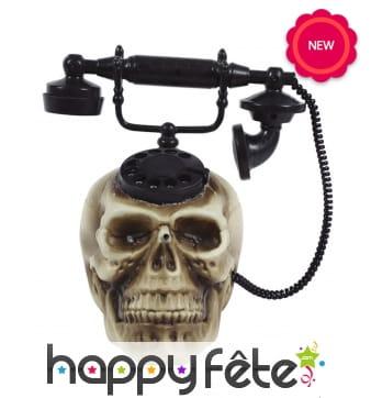 Téléphone crâne animé, pour Halloween