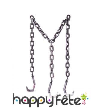Triple Chaîne avec crochets de 180cm