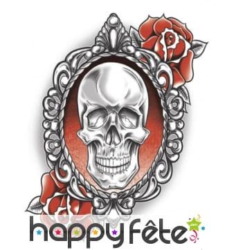 Tatouage crâne et Roses