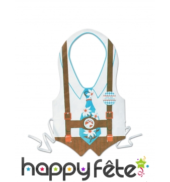 Tablier costume traditionnel de Oktoberfest adulte
