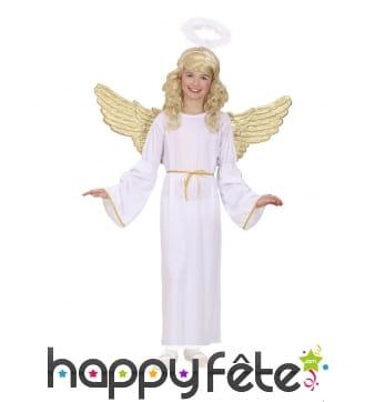 Tenue d'ange blanc ailes dorées pour enfant