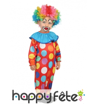 Tenue de bébé clown à pois colorés