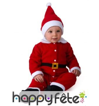 Tenue de bébé Père Noël