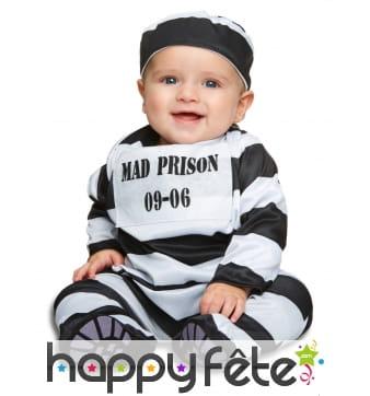 Tenue de bébé prisonnier