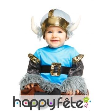 Tenue de bébé viking bleu