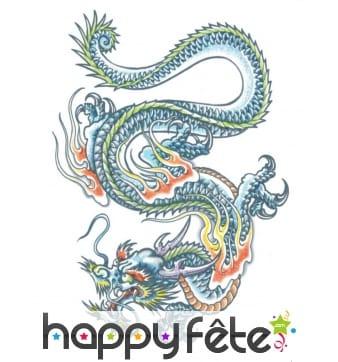 Tatouage dragon chinois éphémère