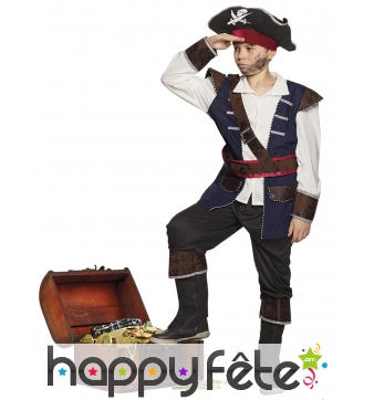 Tenue de capitaine pirate pour enfant