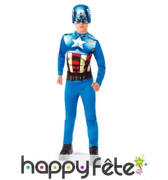 Tenue de Captain America pour enfant, classique