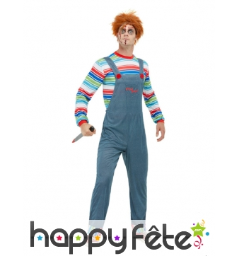 Tenue de Chucky pour homme adulte