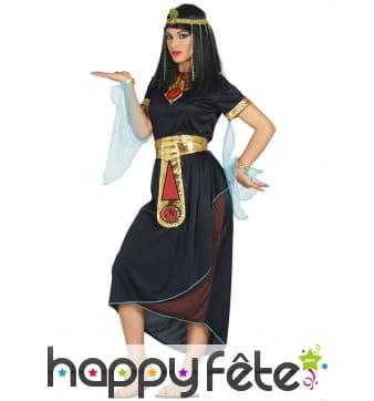 Tenue de Cléopâtre noire pour femme